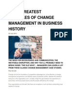 The 5 Greatest Examples of Change Management in Business History