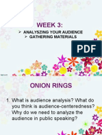 Analyzing your audience and gathering materials