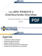 3.1 Variable Aleatoria y Distribuciones Discretas