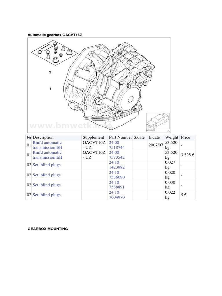 Mini R50 Automatic Transmission