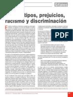 Estereotipos, prejuicios, racismo y discriminación