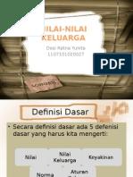 NILAI-NILAI KELUARGA