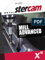 SAMPLE Mastercam_X9_Mill_Advanced Mastercam X9 Mill Advanced Training Tutorial