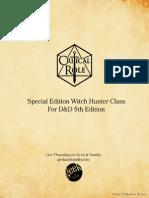 Witch Hunter Class FINAL 4.2