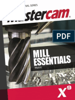 SAMPLE Mastercam X9 Mill Essentials Training Tutorial METRIC