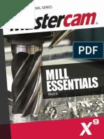SAMPLE Mastercam X9 Mill Essentials Training Tutorial METRIC