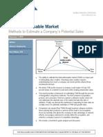 Addressable Market Estimation