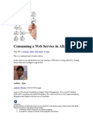 Consuming a Web Service in ABAP | Proxy Server | Web Service