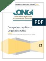 Competencia y Marco Legal Vigente Para ONG
