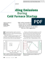 Controlling Emissions During Cold Furnace Startup