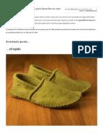 Zapatillas, 16 Tutoriales Para Hacerlas en Casa - Cultura DIY