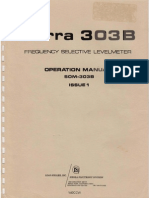 Sierra 303B Frequency Selective Levelmeter ~ Operation Manual (SOM-303B), January 1974.