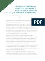 Consorcio Liderado Por La UNMSM Gana Concurso de CONCYTEC Para Formar El Primer Centro de Excelencia Del País en Tecnologías Biomédicas y Ambientales