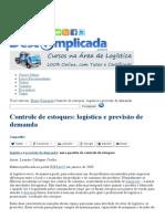 Controle de Estoques_ Logística e Previsão de Demanda - Logística Descomplicada