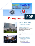 Final Programme, 3rd Swedish-Hellenic Conference, Athens, March 2010
