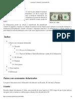 Dolarización - Wikipedia, La Enciclopedia Libre