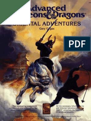 ADnDFE Oriental Adventures | Dungeons & Dragons | Leisure