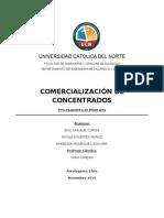COMERCIALIZACION de CONCENTRADOS Eric Carvajal Nicole Cifuentes Emersson Rodriguez