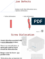 Screw and Edge Dislocations