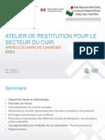 1 Doc Atelier de Restitution Pour Le Secteur Cuir