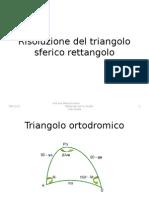 Risoluzione del triangolo sferico rettangolo.ppt