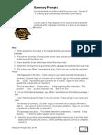 E.lit-K5-Summary Prompts, BL HB
