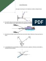 2ª Lista - Mecânica Técnica - Equilibrio PM - Parcial