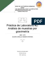 Quimica Analítica Análisis de Muestras Por Gravimetría