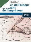 La Main de l Auteur Et l Esprit de l Imprimeur Xvie Xviiie Siecle