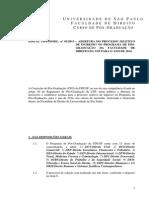 Edital Mestrado USP 2013