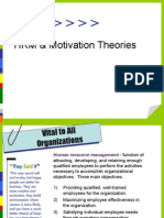 HRM and Motivation Theories