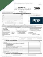 Declaratia 200 - Declaratia (si) cu venituri din alte surse, in afara de salarii