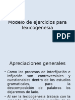 Modelo de Ejercicios Para Lexicogenesia