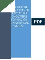 Codigo de Etica de Los Ingenieros en Tecnologias de La Informacion