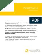VerbalReasoningTest11 Solutions