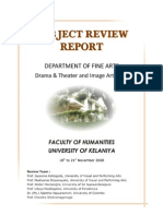 Subject Review Report - Drama and Theatre & Image Arts Unit