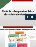 Efecto de La Temperatura Sobre El Crecimiento Microbiano