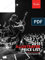 2015 Fender Illustrated Price List