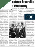 11-06-15 Acuerdan atraer inversión coreana a Monterrey