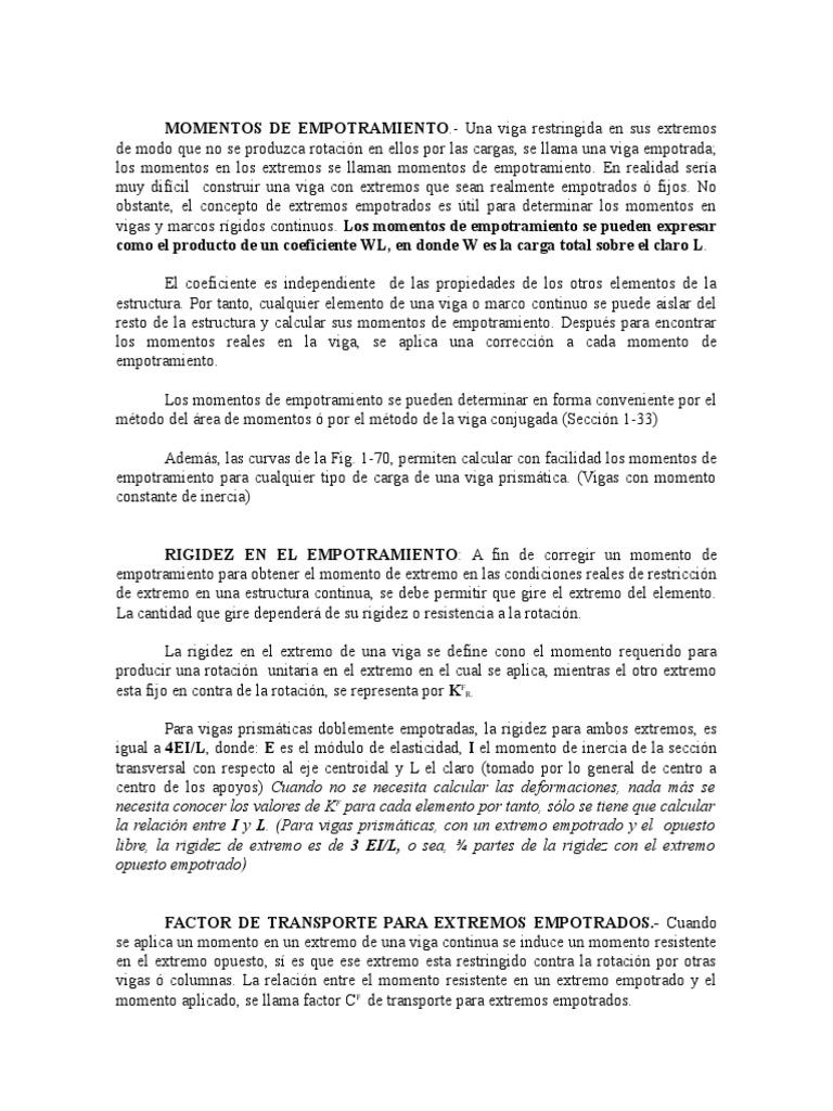 Estructuras04 (Momento de Empotramiento y Cálculo de Rígidez)