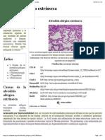 Wikipedia - Alveolitis Alérgica Extrínseca (CHECKED)