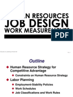 Human Resources, Job Design and Work Measurements