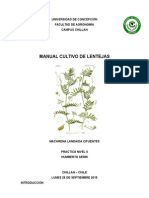 Manual Cultivo de Lentejas