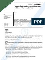 NBR 14549 (Jul 2000) - Couro - Expressão Dos Resultados de Análises Físico-mecânicas