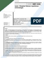 NBR 14548 (Jul 2000) - Couro - Ensaios Físicos e Químicos - Terminologia