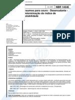 NBR 14546 (Jul 2000) - Insumos Para Couro - Desencalante - Determinação Do Índice de Solubilidade - Cópia