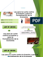LEY N° 28194 Ley para la Lucha contra la Evasión y para la Formalización de la Economía