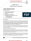 ICWAI Risk - Management of Risk Financial Management & International Finance study material download