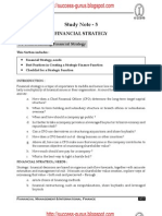 ICWAI Understanding Financial Strategy-Financial Management & International Finance study material download