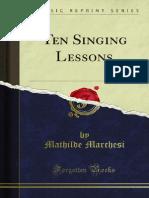 Ten Singing Lessons
